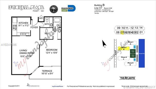 Brickell Place I Unit B1107 Condo For Sale In Brickell Miami Condos Condoblackbook