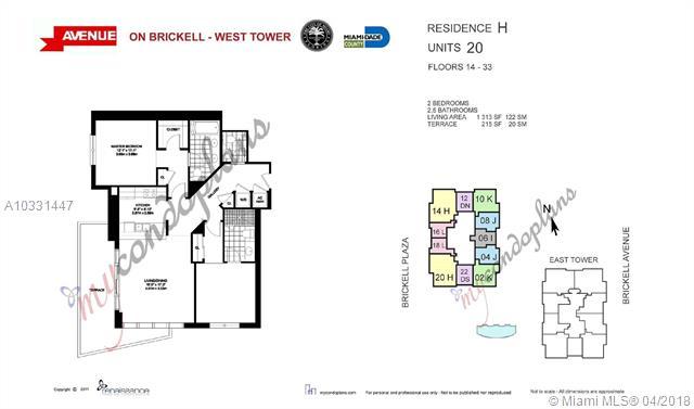 1050 Brickell Ave & 1060 Brickell Avenue, Miami FL 33131, Avenue 1060 Brickell #3020, Brickell, Miami A10331447 image #24