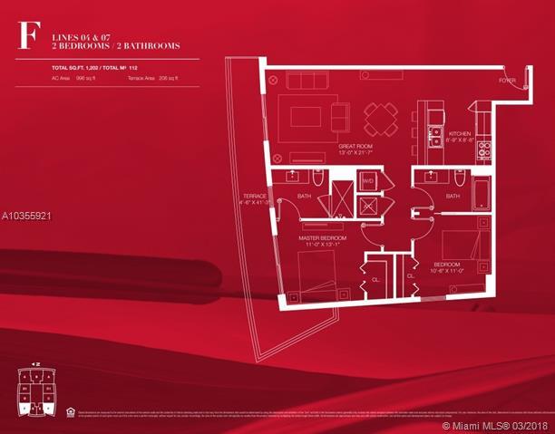 1100 S Miami Ave, Miami, FL 33130, 1100 Millecento #2404, Brickell, Miami A10355921 image #16
