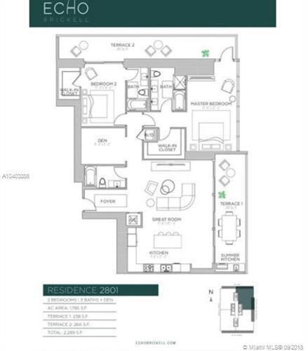 1451 Brickell Avenue, Miami, FL 33131, Echo Brickell #2801, Brickell, Miami A10403856 image #7