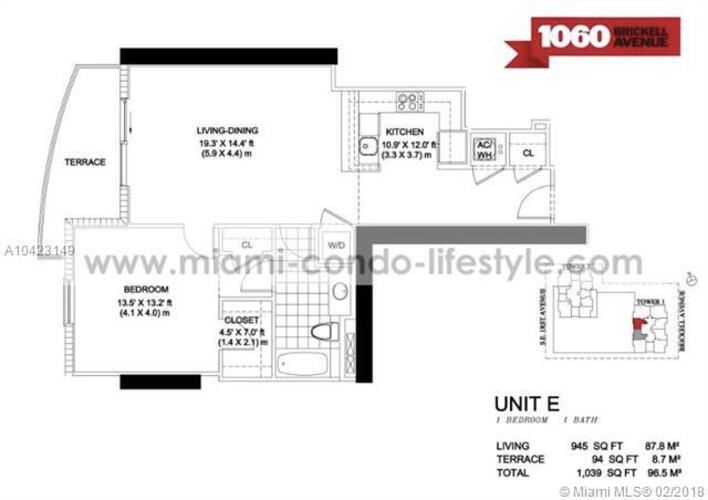 1050 Brickell Ave & 1060 Brickell Avenue, Miami FL 33131, Avenue 1060 Brickell #2215, Brickell, Miami A10423149 image #30