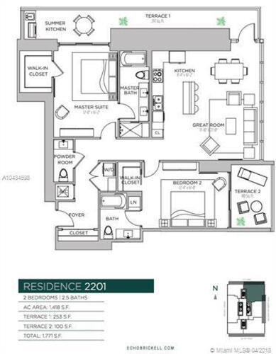 1451 Brickell Avenue, Miami, FL 33131, Echo Brickell #2306, Brickell, Miami A10434598 image #29