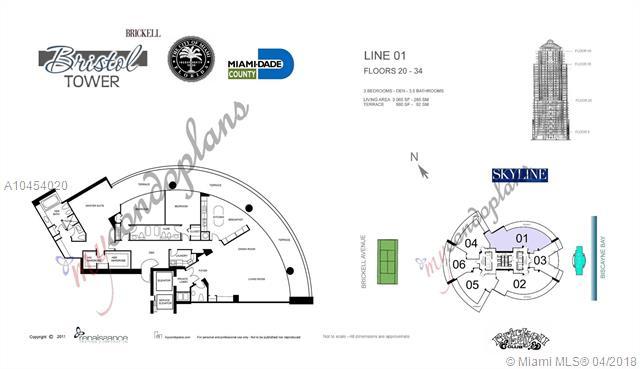 2127 Brickell Avenue, Miami, FL 33129, Bristol Tower Condominium #2601, Brickell, Miami A10454020 image #34