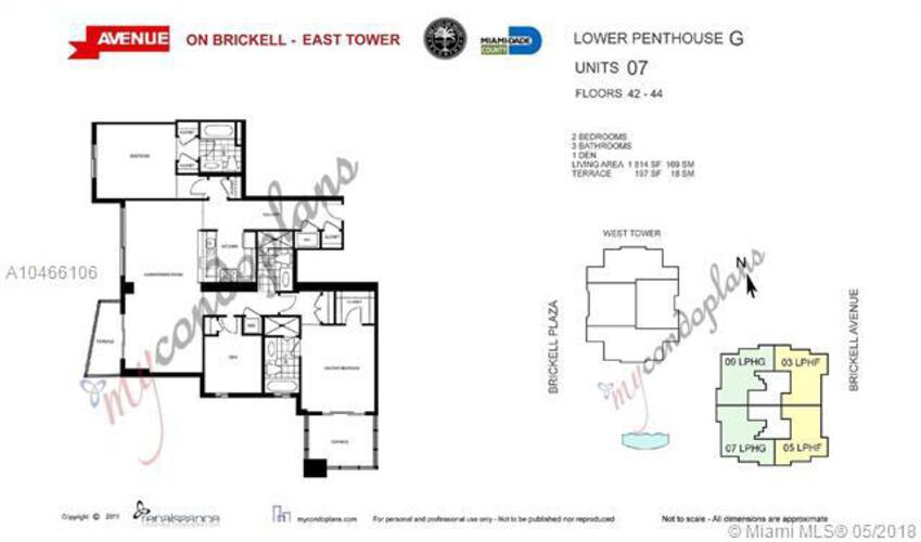 1050 Brickell Ave & 1060 Brickell Avenue, Miami FL 33131, Avenue 1060 Brickell #4407, Brickell, Miami A10466106 image #28