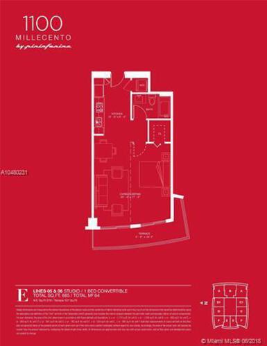 1100 S Miami Ave, Miami, FL 33130, 1100 Millecento #1105, Brickell, Miami A10480231 image #19