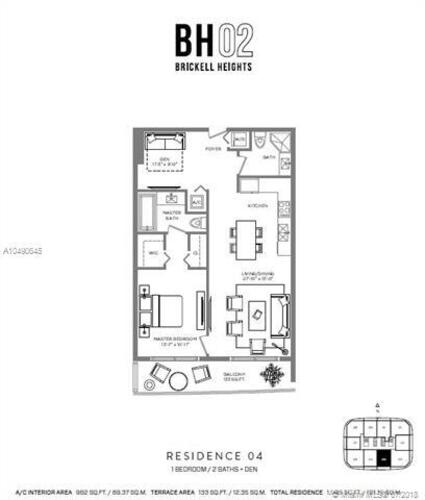 55 SW 9th St, Miami, FL 33130, Brickell Heights West Tower #2704, Brickell, Miami A10490645 image #6