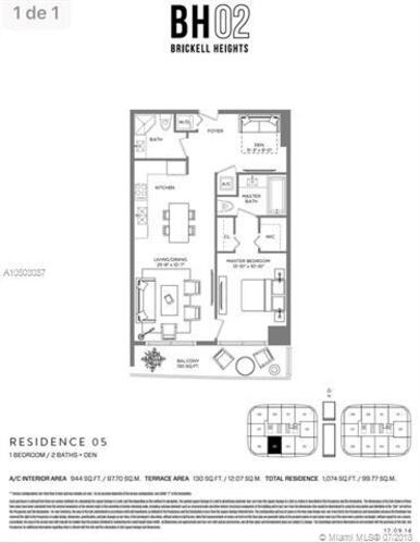 55 SW 9th St, Miami, FL 33130, Brickell Heights West Tower #3205, Brickell, Miami A10503087 image #3