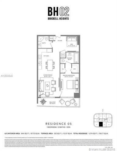 55 SW 9th St, Miami, FL 33130, Brickell Heights West Tower #4205, Brickell, Miami A10503640 image #29
