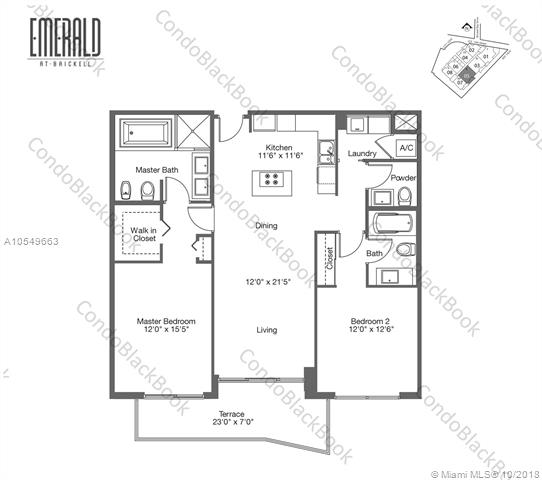 218 SE 14th St, Miami, Fl 33131, Emerald at Brickell #1705, Brickell, Miami A10549663 image #26