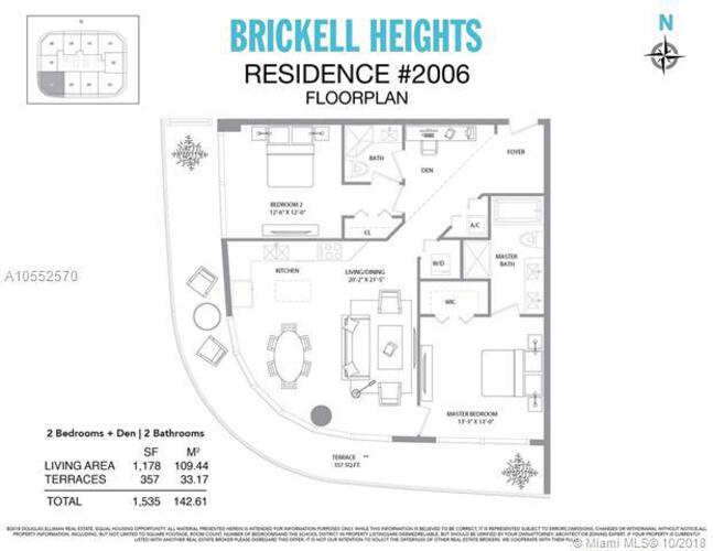 45 SW 9th St, Miami, FL 33130, Brickell Heights East Tower #2006, Brickell, Miami A10552570 image #18