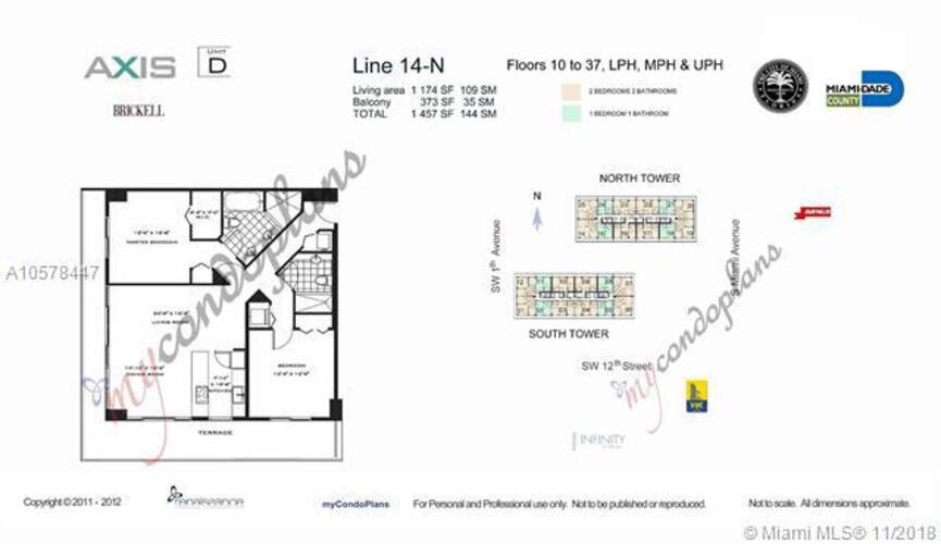 1111 SW 1st Avenue, Miami, FL 33130 (North) and 79 SW 12th Street, Miami, FL 33130 (South), Axis #2714-N, Brickell, Miami A10578447 image #2