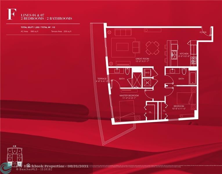 1100 S Miami Ave, Miami, FL 33130, 1100 Millecento #2207, Brickell, Miami F10144768 image #1
